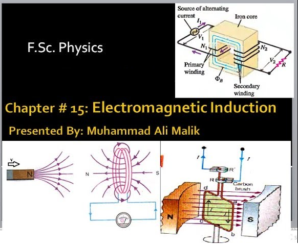 Chapter # 15: (F Sc  Physics 2nd Year) Electromagnetic Induction