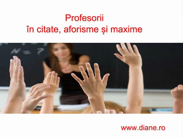 Profesorii in citate aforisme si maxime