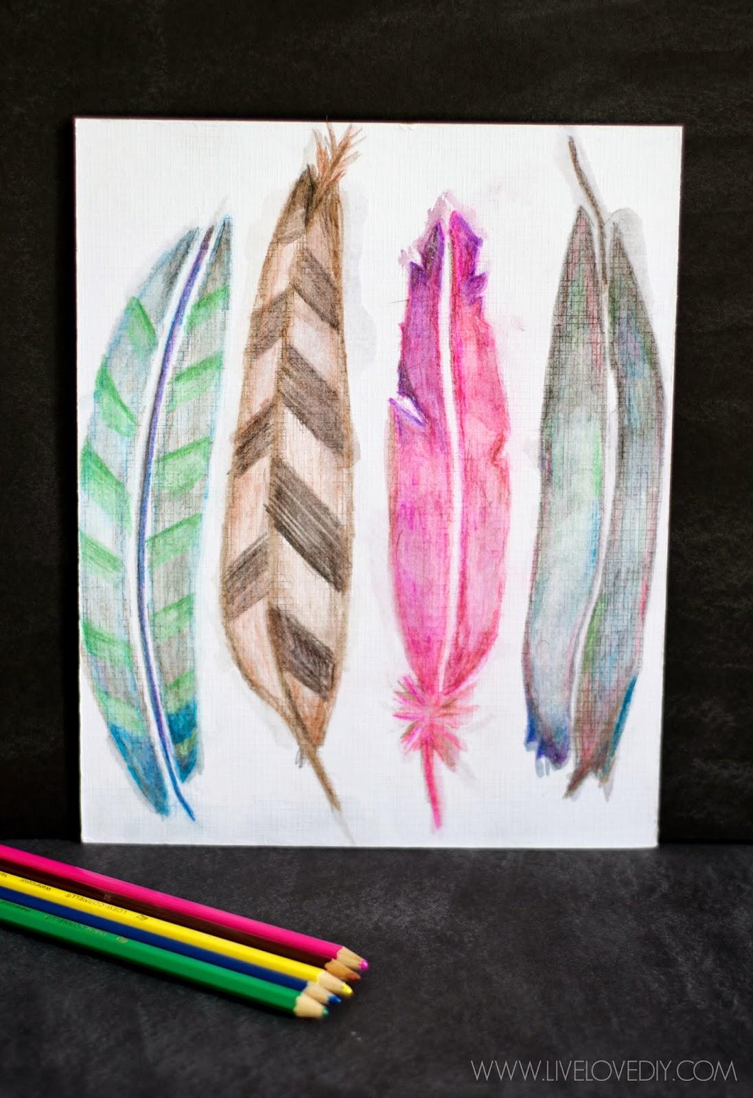 LiveLoveDIY: How To Use Watercolor Pencils (aka my ...