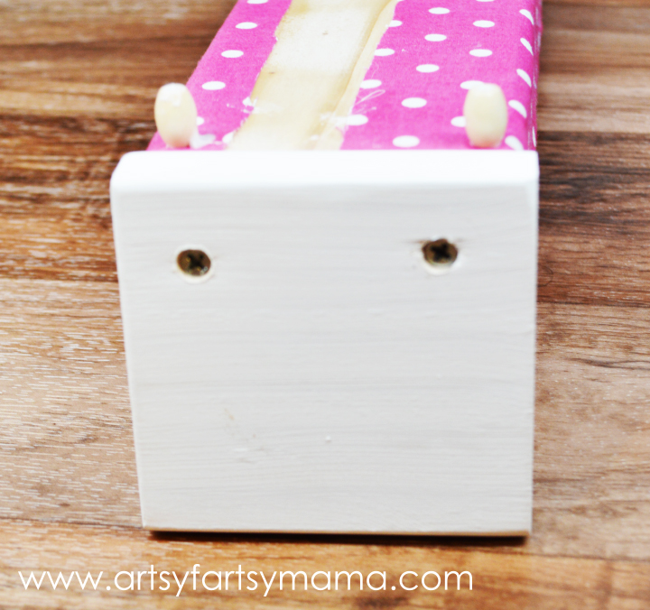 DIY Barbie Bed at artsyfartsymama.com #dollfurniture #BarbieFurniture