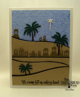 Our Daily Bread Designs Custom Dies: Bethlehem, Curvy Slopes, Holy Night, Pierced Rectangles, Paper Collection:  Christian Faith