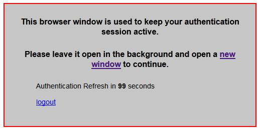Firewall Solution: Authentication keepalive page Fortigate