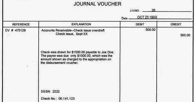 What is Journal voucher Accounting? Journal Voucher - Online Account - example of a voucher