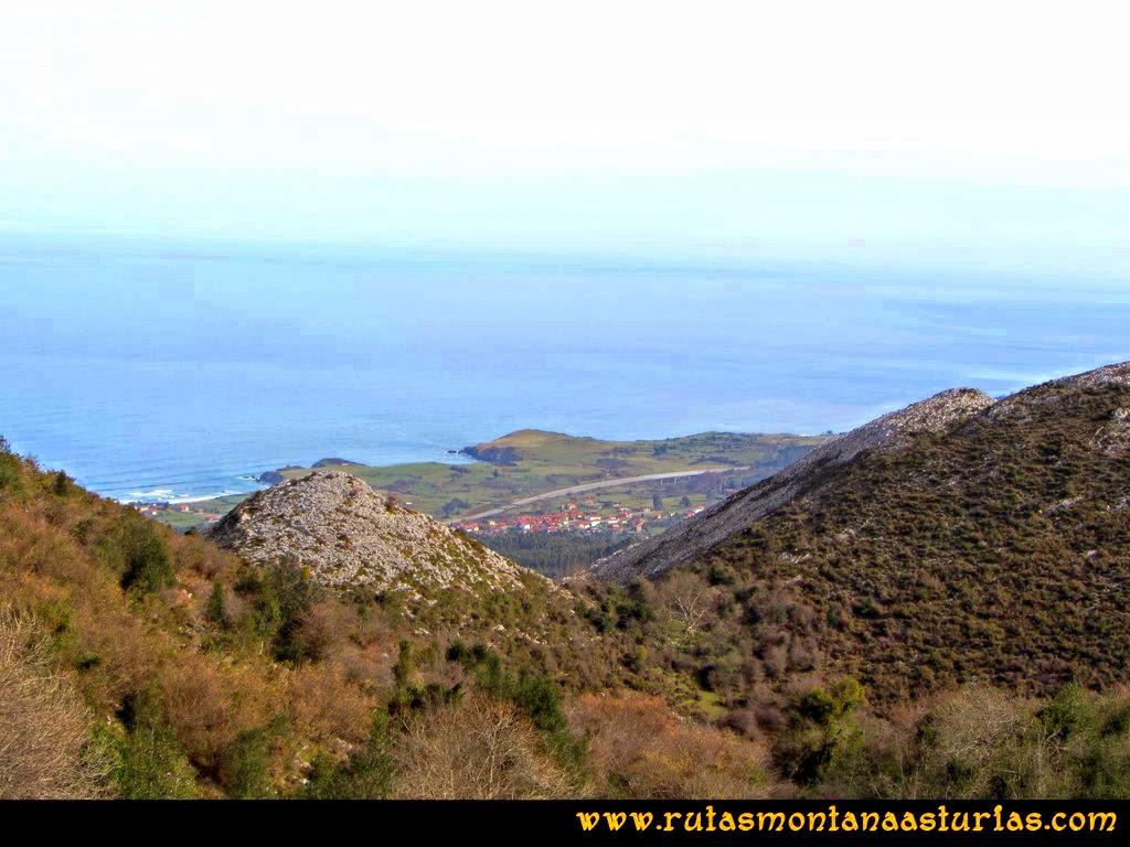 Ruta Montaña al Pienzu: Vista del mar cantábrico