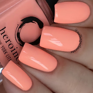 Heroine NYC Peach Please swatch