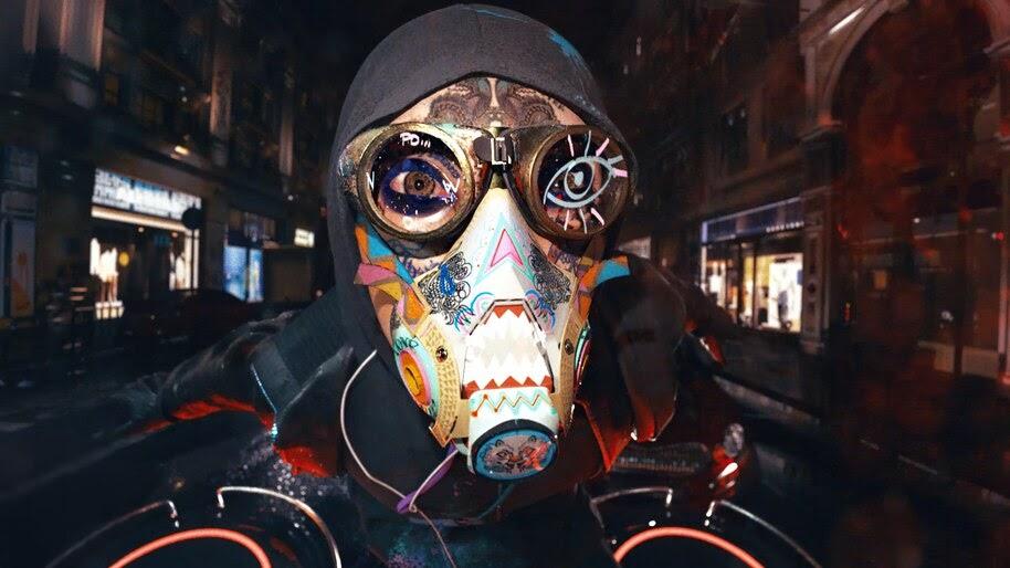 Watch Dogs Legion, Gas Mask, 4K, #7.2238
