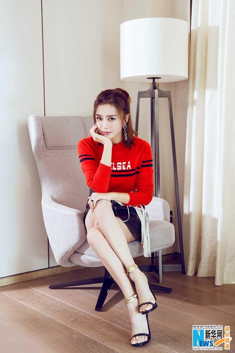 Qin Lan poses for photo shoot