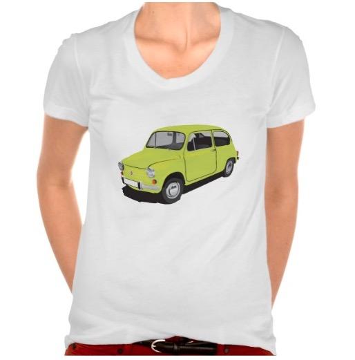 Fiat 600 t-shirt woman