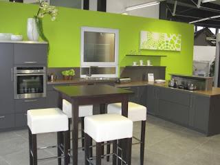 Decoración cocina verde