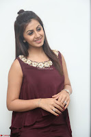 Nikki Galrani in a Brown Shining Sleeveless Gown at Nakshatram music launch ~  Exclusive 098.JPG