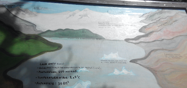 Panel del lago Grey, Torres del Paine
