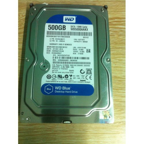HDD PC 500G chính hãng giá rẻ hà nội