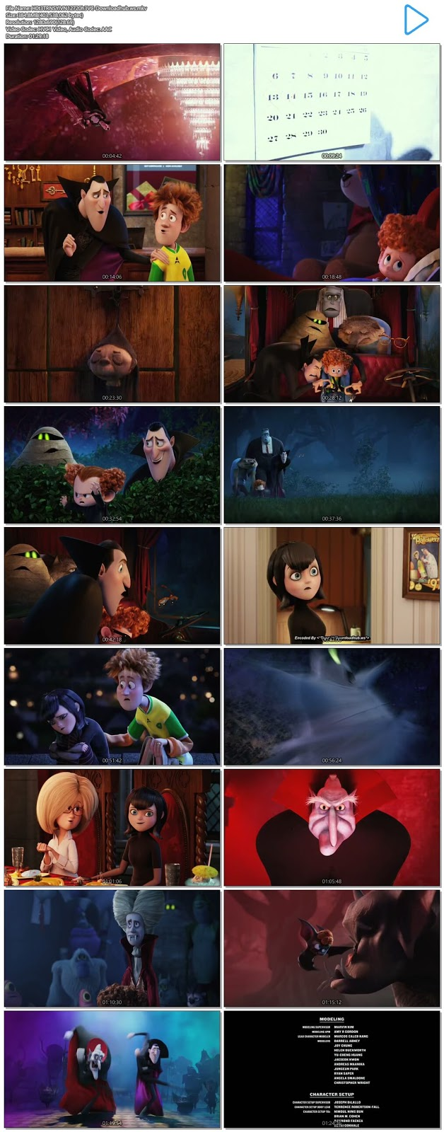 Hotel Transylvania 2 2015 Hindi Dual Audio 720p HEVC BluRay Free Download