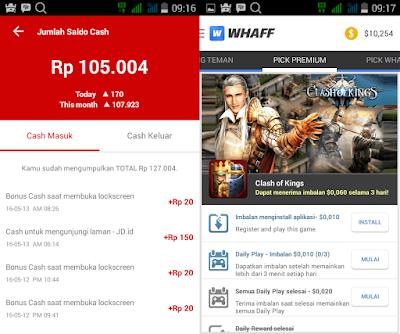 2 Aplikasi Android Penghasil Uang