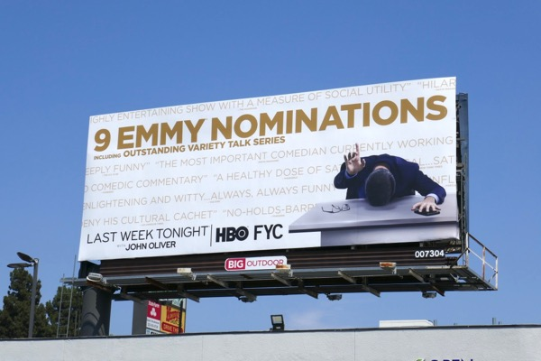 Last Week Tonight John Oliver 9 Emmy noms billboard