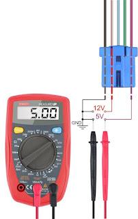 hondash dlc connector 5 pin voltage levels