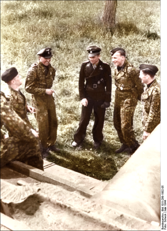 Michael Wittmann Color photo World war II worldwartwo.filminspector.com