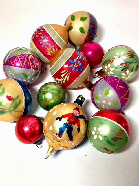 Pink In My Vintage Polish Gl Christmas Ornaments