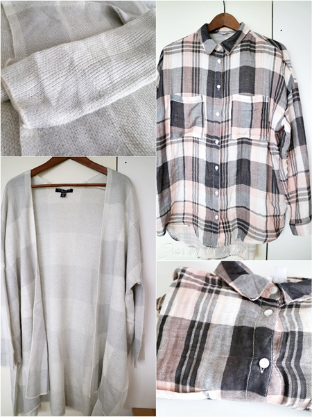 Shoppingausbeute Februar - www.josieslittlewonderland.de - karierter cardigan von new yorker grau/ weiß, karierte oversize bluse von new yorker grau/ rosa, fashion, new yorker shoppingausbeute, haul, fashion haul