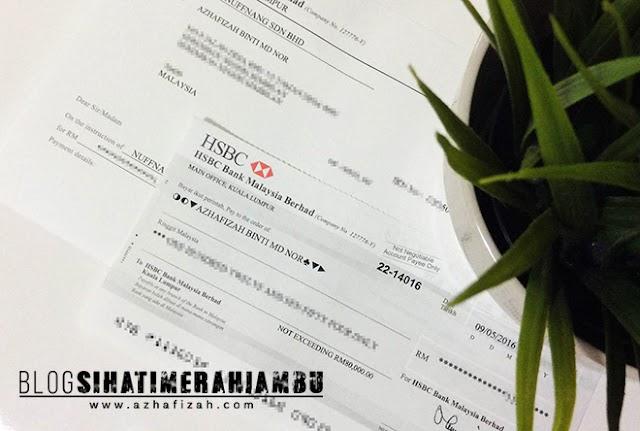 Cheque Nuffnang March Baru Sampai
