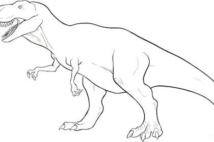 Gambar Untuk Mewarnai Dinosaurus