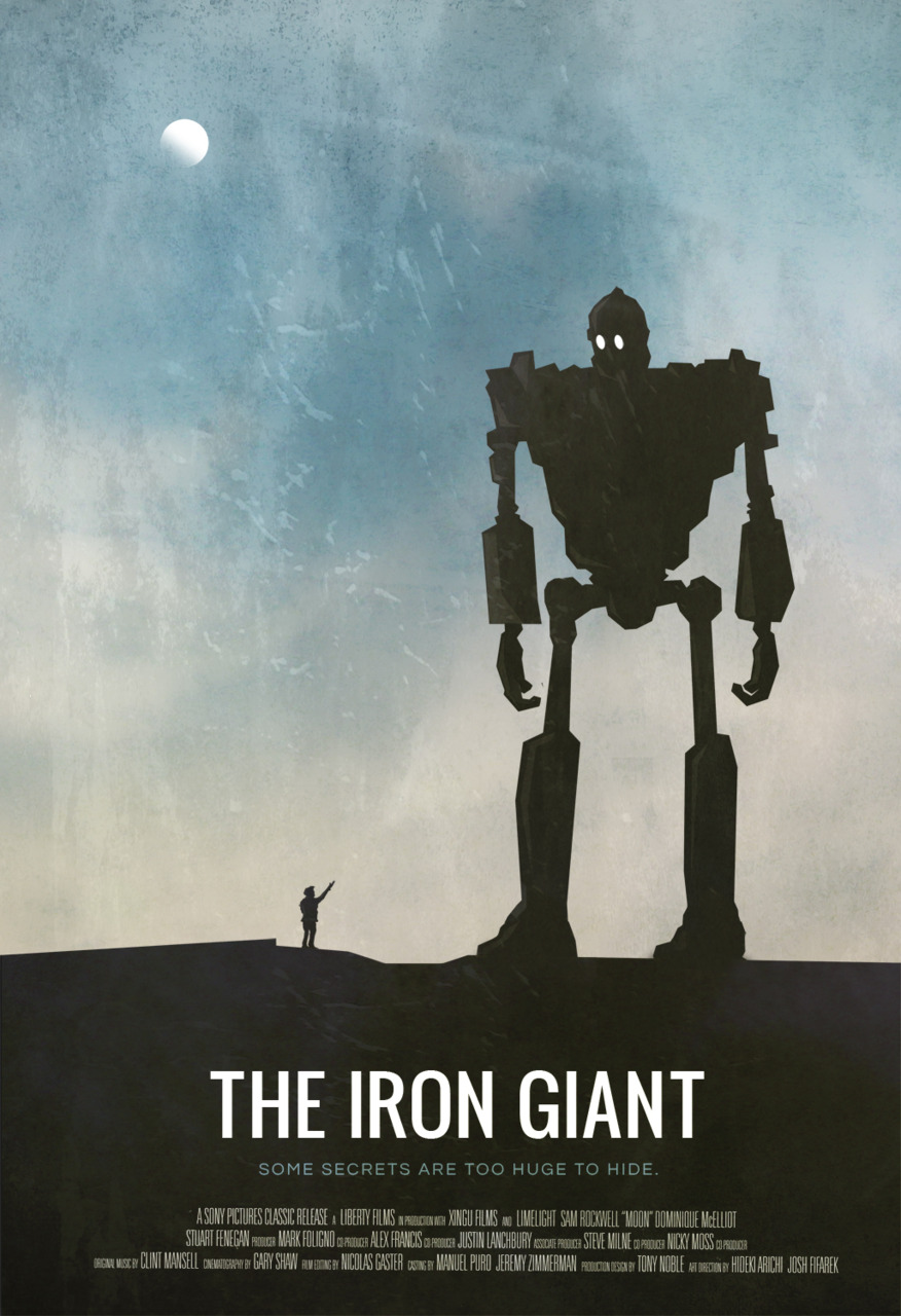 the geeky nerfherder movie poster art the iron giant 1999. Black Bedroom Furniture Sets. Home Design Ideas
