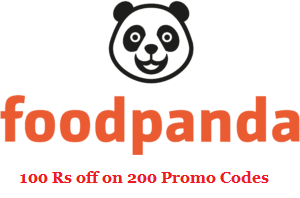 Foodpanda 100 Rs off on 200 coupon code