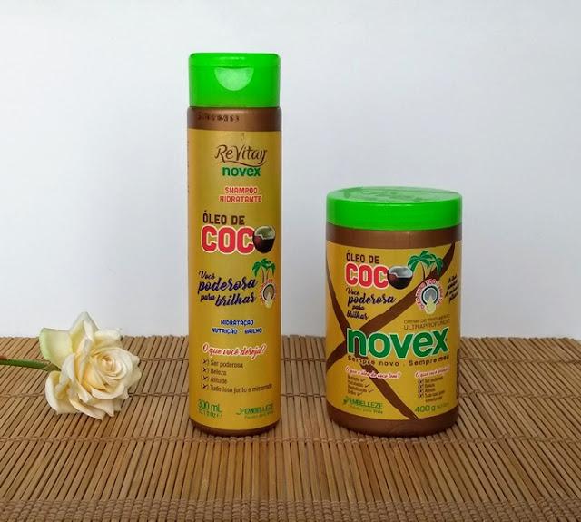 Shampoo e Mascara Oleo de Coco Novex