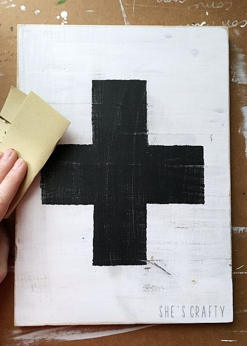 how to make a medical cross sign
