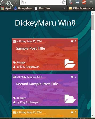Template DickeyMaru Win8 Responsive