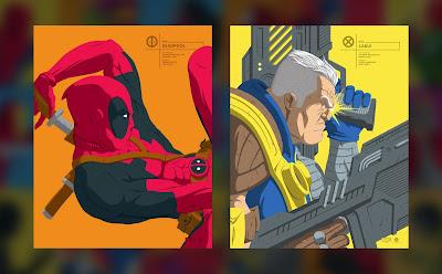 Deadpool 2 Deadpool & Cable Marvel Faceoff Portrait Screen Prints by Florey x Grey Matter Art
