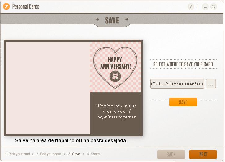 Crie cartões personalizados