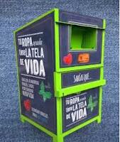 Contenedores Inagra Granada para reciclaje de ropa. Tu ropa tiene la tela de vida