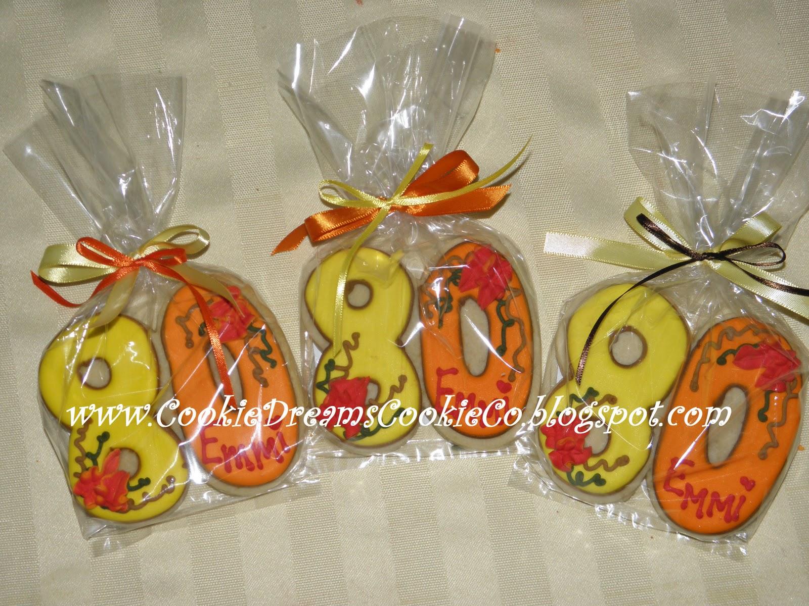 Cookie Dreams Cookie Co 80th Birthday Cookies