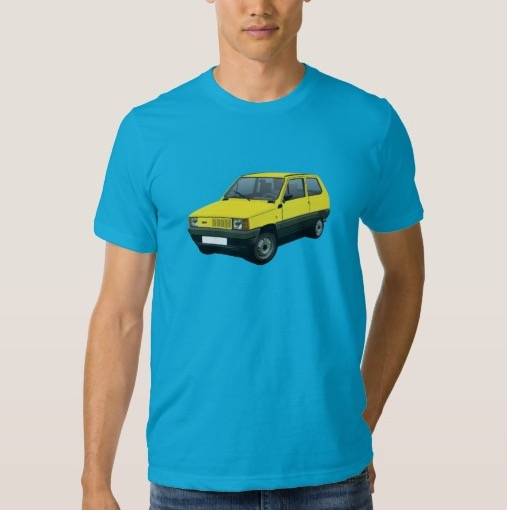 Yellow Fiat Panda apparel