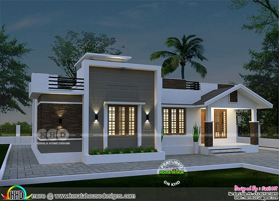 Single storied house plan by Fasil MT