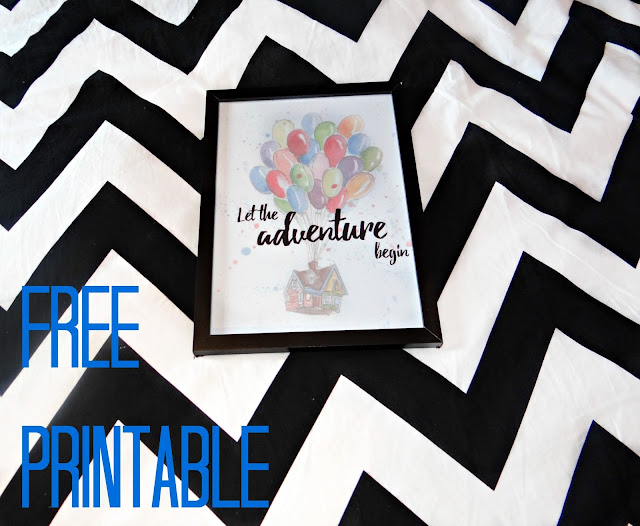 Let The Adventure Begin FREE Printable