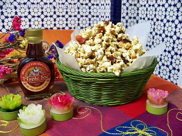Palomitas de Maíz con Bacon y Jarabe de Arce