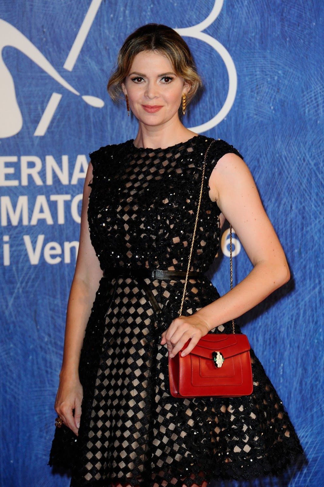 Full HQ Photos of Carly Steel in Black Dress At Franca Chaos And Creation Premiere At 2016 Venice Film Festival