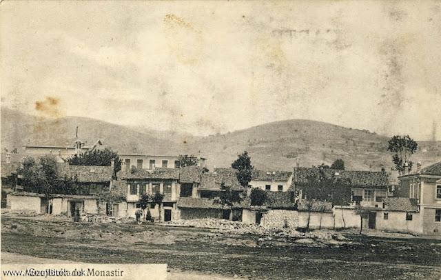 Поглед на западниот дел од градот. Разгледница издадена 1908/10 година.