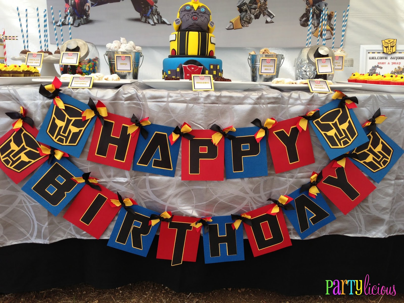 Partylicious Events PR Transformers Birthday Bash