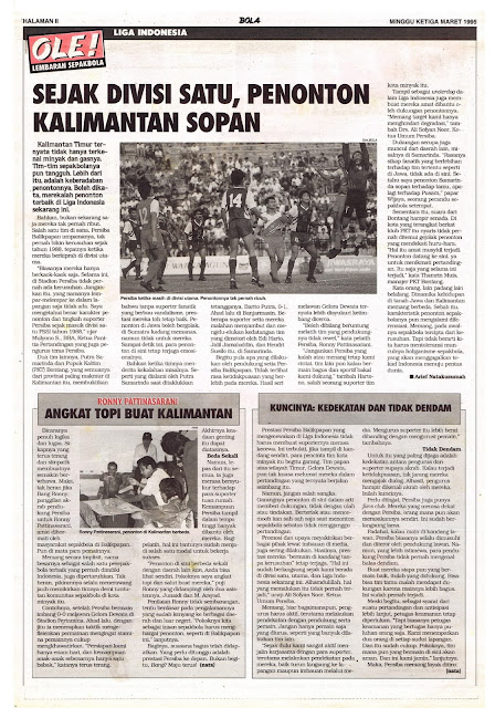 LIGA INDONESIA: SEJAK DIVISI SATU, PENONTON KALIMANTAN SOPAN