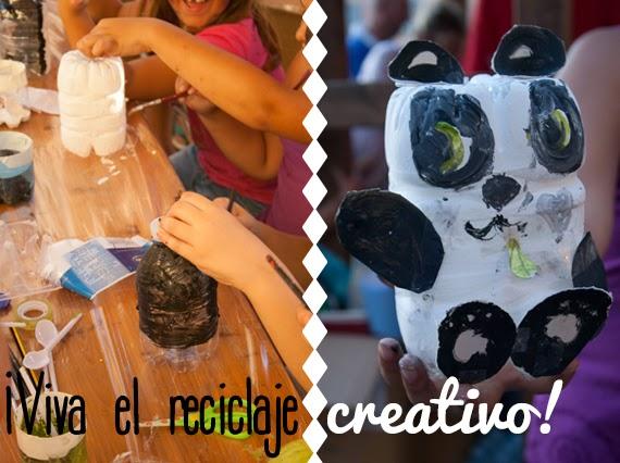 Reciclaje creativo con niños