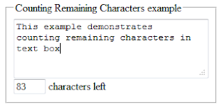 Counting remaining characters in textbox example in asp.net