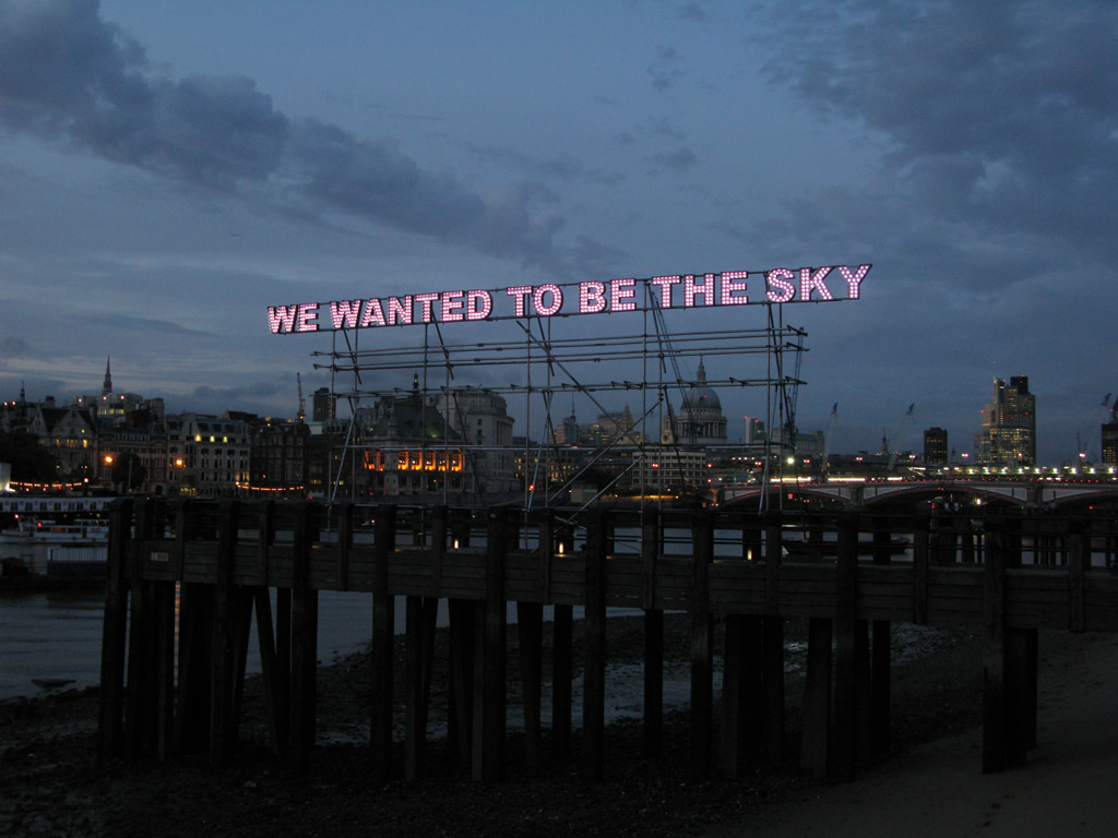 Tim Etchells We Wanted To Be The Sky Full