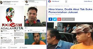 TERUNGKAP! Jejak Digital Dodik Ihwanto Penghina Ibu Presiden Pendukung Jokowi