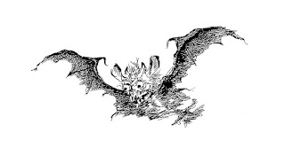 bat scary demon illustration