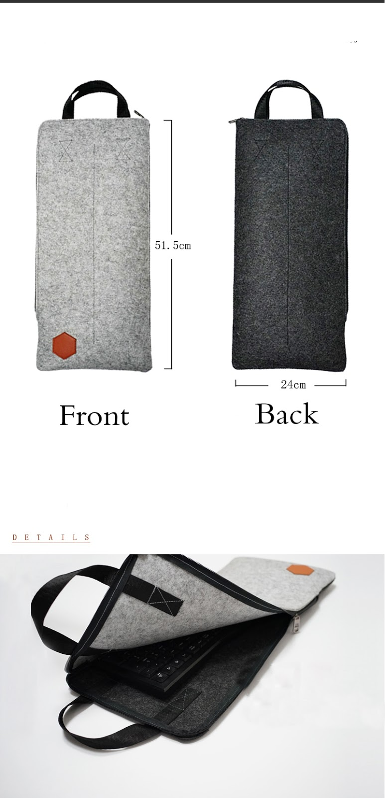 mechanical keyboard felt case carrying travel bag for cherry mx9 0 ebay. Black Bedroom Furniture Sets. Home Design Ideas