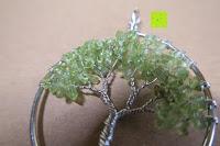 grün: JOVIVI Edelstein Chakra-Anhänger Baum des Lebens Anhänger Pandent mit 56cm Kette,Lebensbaum Halskette für Damen Herren