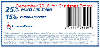 Sherwin Williams coupons december 2016